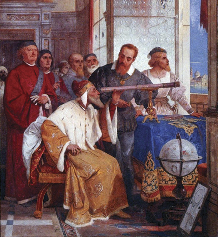 Galileo showed the Doge of Venice how to use the telescope